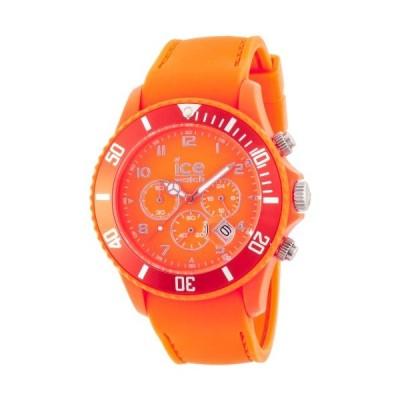 Ice-Watch Men's Quartz Watch with Orange Dial Chronograph Display and Orange Silicone Strap CHM.FO.B.S.12 並行輸入品
