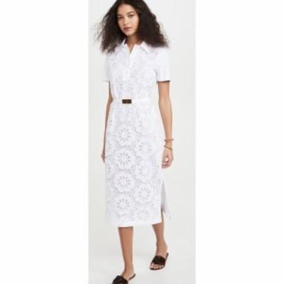 トリー バーチ Tory Burch レディース ワンピース ポロ ワンピース・ドレス Lace Polo Dress White