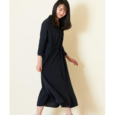 【earth music&ecology】。ドロストシャツワンピース (ワンピース)Dress