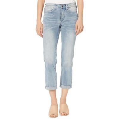 レディース パンツ Petite Sheri Slim Ankle Jeans with Roll Cuff in Affection