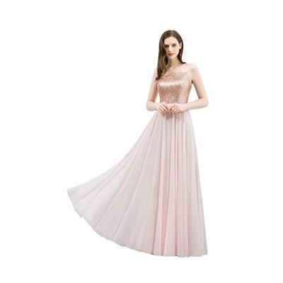 レディース ロングドレス 結婚式 演奏会 イブニングドレス パーティードレス ブライズメイド 発表会 スパンコ