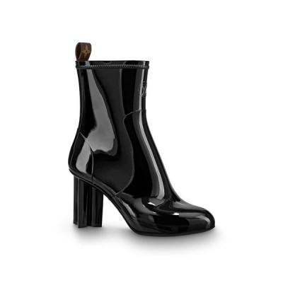 ルイヴィトン LOUIS VUITTON ショートブーツ ブーツ シューズ 靴 アンクルブーツ ノワール ブラック ラバー ウォータープルーフ