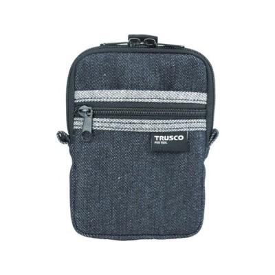 デニムコンパクトケース 2ポケット ブラック TRUSCO TDCK102-3100