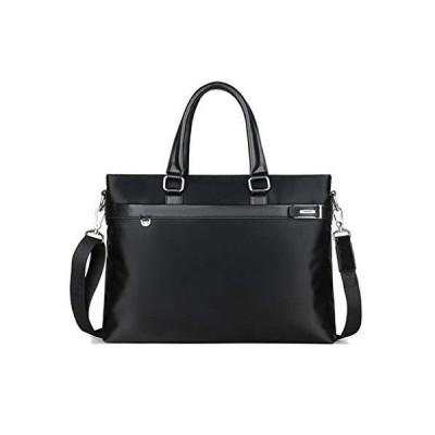 ZHAOTARPS Briefcases, Men's Handbag Canvas Shoulder Messenger Bag Business Briefcase Computer Bag (Color : Black, Size : M)【並行輸入