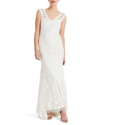 フェイズ エイト Phase Eight レディース パーティードレス ワンピース・ドレス Valerie Tapework Bridal Dress Cream