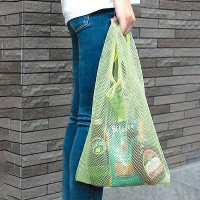 エコバッグ レジ袋 コンビニ 買い物袋 通勤 軽量 軽い コンパクト かわいい おしゃれ サブバッグ 持ち運び シンプル 洗える レジバッグ ETメッシュバッグ