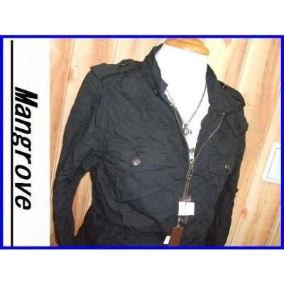 セール品◆新品 マングローブ ミリタリージャケット黒サイズL