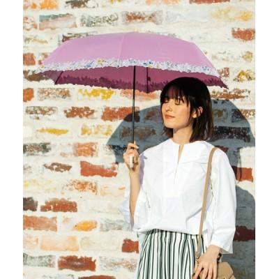 Paradise Picnic / カラフル フラワー刺繍 晴雨兼用 折りたたみ日傘 WOMEN ファッション雑貨 > 折りたたみ傘