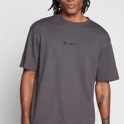 メンネイス メンズ ファッション ESSENTIAL REGULAR RELAXED SIG TEE UNISEX - Basic T-shirt - charcoal