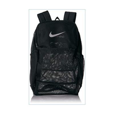 NIKE Brasilia Mesh Backpack 9.0, Black/Black/White, Misc並行輸入品