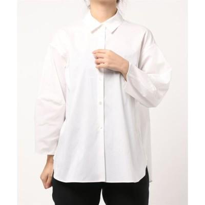 シャツ ブラウス 切り替えスリーブシャツ