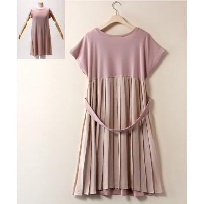大きいサイズ バックプリーツカットソーワンピース【Blistorm】 ,スマイルランド, ワンピース, plus size dress