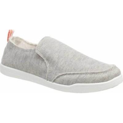 バイオニック レディース スニーカー シューズ Malibu Slip On Sneaker Light Grey Jersey