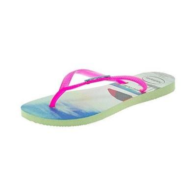 Havaianas Women's Flip Flop Sandals, Apple Green, 4.5-5.5[平行輸入品]
