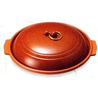 アルミ 丸陶板 ベージュ皿(あかね) 品番:20035 陶板焼き皿に 代引不可商品です。