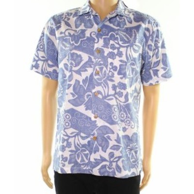 Pocket  ファッション アウター OOBE NEW Blue Mens Size Medium M Floral Print Pocket Button Up Shirt
