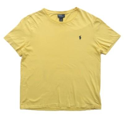 古着 オールド ポロラルフローレン Tシャツ ワンポイント 袖裾シングル サイズ表記:L