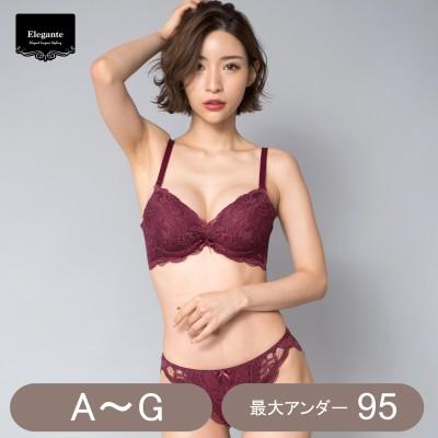 脇高総レースブラ&ショーツセット(エレガンテ/Elegante)