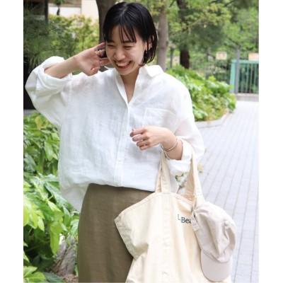【ジャーナルスタンダード】 LINASリネンオーバーサイズシャツ◆ レディース ホワイト フリー JOURNAL STANDARD