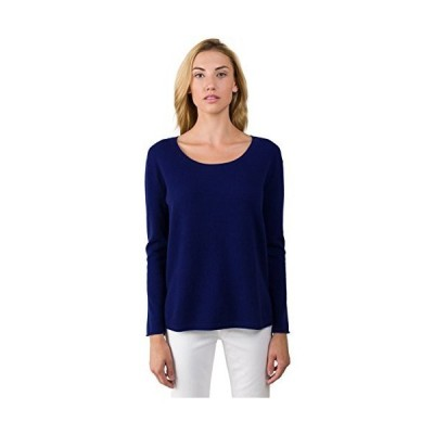 J CASHMERE Women's 100% Cashmere Long Sleeve Pullover High Low Crewneck Swe