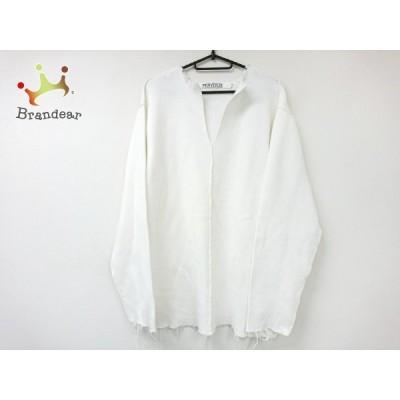 パーバーズ PERVERZE 長袖セーター サイズF レディース 美品 - 白 Vネック/ダメージ加工  値下げ 20201202