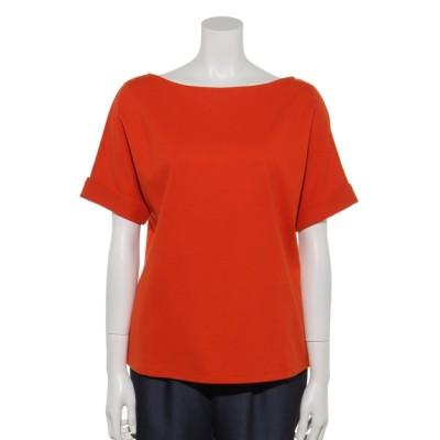 Rename (リネーム) レディース 袖口折り返しデザイン半袖カットソー オレンジ M