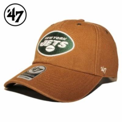 47ブランド カーハート コラボ ストラップバックキャップ 帽子 メンズ レディース 47BRAND CARHARTT NFL ニューヨーク ジェッツ フリーサ