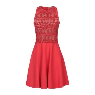 VICEDOMINI ミニワンピース&ドレス レッド S レーヨン 83% / Elite 17% ミニワンピース&ドレス