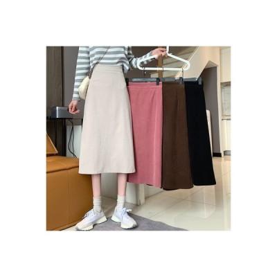 【送料無料】ハイウエストのスカート 女性のスカート 秋冬 年 レトロ コーデ | 346770_A64456-7855213