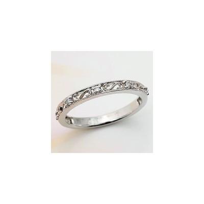 指輪 プラチナ ダイヤモンド アラベスクリング SIクラス PT900