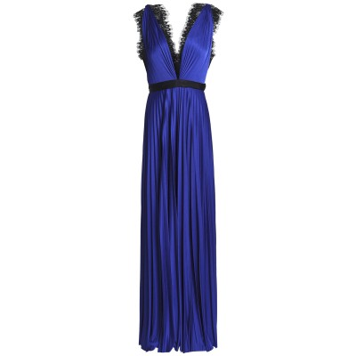 CATHERINE DEANE ロングワンピース&ドレス ブルー 12 ポリエステル 100% ロングワンピース&ドレス