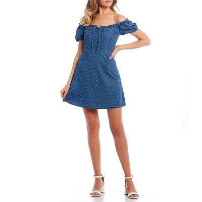 カッパーキー レディース ワンピース トップス Off-The-Shoulder Puff Sleeve Dress