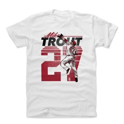 MLB Tシャツ エンゼルス マイク・トラウト Player Art Cotton T-Shirt 500Level ホワイト 1112LV【OCSL】