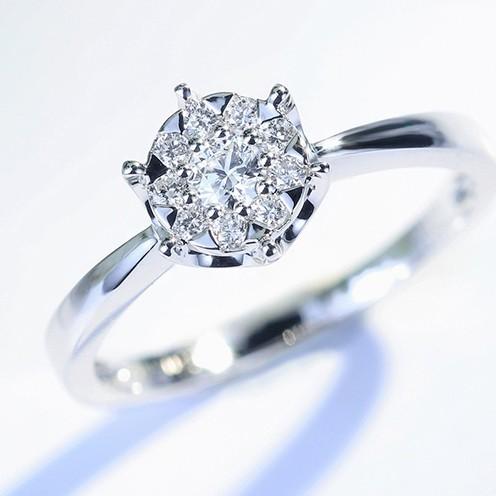 【巧品珠寶】18K金 經典設計款 群鑲真鑽訂製戒