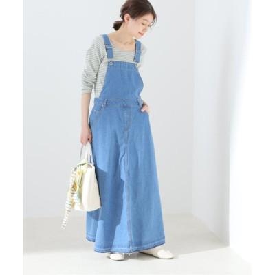 【イエナ】 LE DENIM フレアジャンパーデニムスカート◆ レディース ブルーA 36 IENA
