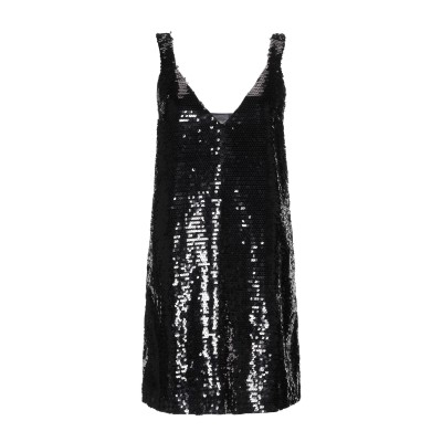 ドンダップ DONDUP ミニワンピース&ドレス ブラック 44 ポリエステル 100% ミニワンピース&ドレス
