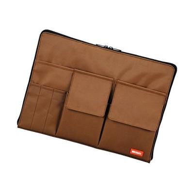 リヒトラブ バッグインバッグ A4 茶 A7554-9