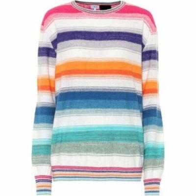 ロエベ Loewe レディース ニット・セーター トップス Paulas Ibiza striped sweater Multicolor/White