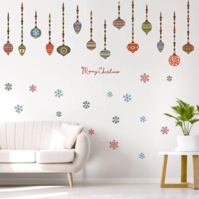 ウォールステッカー クリスマス Christmas 飾り 90×90cm Lsize オーナメント 2020 xmas 飾り 雪の結晶 オーナメント 017036