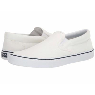 スペリー スニーカー シューズ メンズ Striper II Slip-On Sneaker SW White