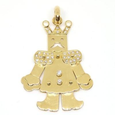 K18  ゴールド ダイヤ 0.55ct ペンダント  王様 トップのみ 美品 新品仕上げ済