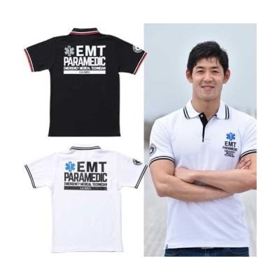 EMTドライカノコ ライン入りポロシャツ[POL-221]