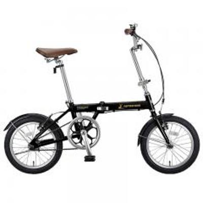 キャプテンスタッグ【送料無料】キャプテンスタッグ 折りたたみ自転車 AL-FDB161 軽量折りたたみ自転車 アルミフレーム 約10kg  16インチ  ブラック