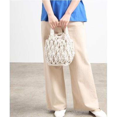 ViS / 巾着付きコットンロープかごバッグ WOMEN バッグ > ハンドバッグ