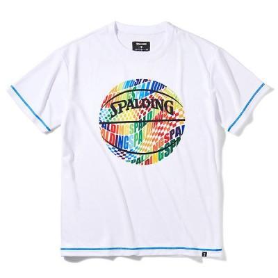 スポルディング (SPALDING) SMT211060 2000 バスケットボール Tシャツ オプティカルレインボー 21FW