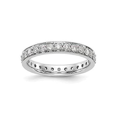 特別価格Jewelry-14k White Gold Polished Vintage 1ct Diamond Eternity Band Size-7好評販売中