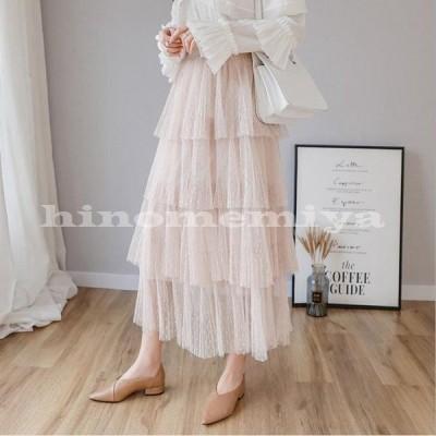 プリーツスカートフレアスカートマキシスカートスカートマキシロングスカートウエストゴムふんわり春秋新作ロングスカートロングスカート可愛い