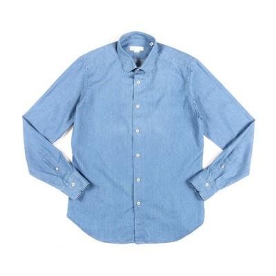 [Blue Dayセール] BARKING(バーキング) デニムシャツ BDD0111 ブルー 41 24471bl 【A24475】