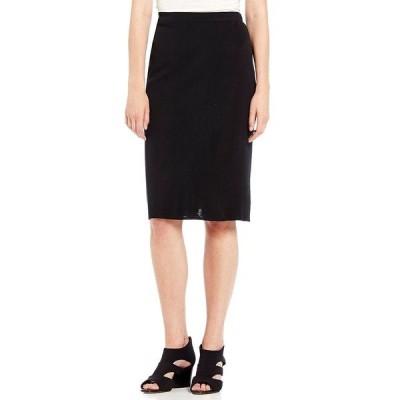 ミンウォン レディース スカート ボトムス Straight Washable Skirt Black