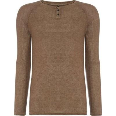 リプレイ Replay メンズ ニット・セーター トップス Knitted Linen Sweater Coffee